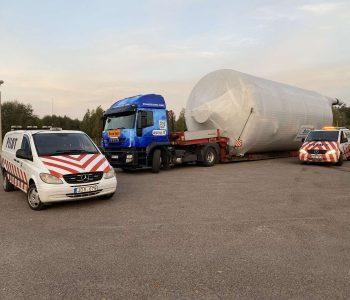 Negabaritinių, sunkiasvorių krovinių pervežimas, leidimai, palyda